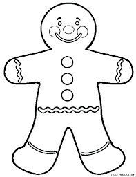 Free Printable Gingerbread Blank Man Template Coloring Pages For