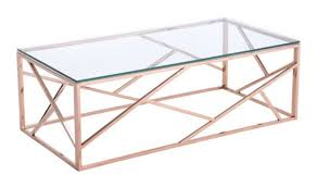 Zuo Modern Coffee Table Cage Modern Coffee Table In Rose Gold By Zuo Getfurniture