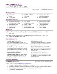 Resume Templates Screen Writer Example Examples Of Resumes Pictures