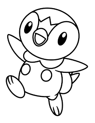 Piplup Coloring Sheet Piplup Coloring S And Pokemon Coloring Pages