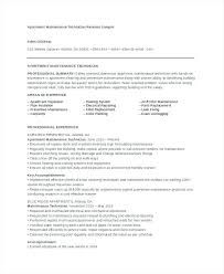 Maintenance Mechanic Resume Template Free Word Document Downloads ...