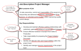 Project Manager Job Description Project Manager Job Description Free Download With