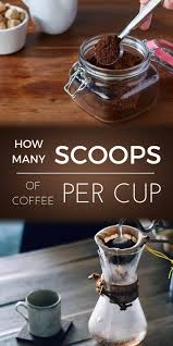 coffee brewing scoops paper filter ground table