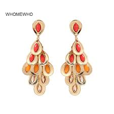 <b>Antique Gold Indian</b> Jhumki Thailand <b>Handmade</b> Tassel Earrings ...