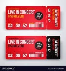 Ticket Design Concert Ticket Design Template For Party Festival