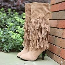 New arrivals <b>women</b> shoes fashion Tassel <b>high heels</b> knee high ...