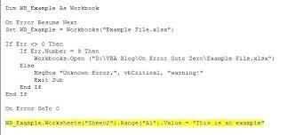 Error Resume Loop Vba Pelosleclaire Com