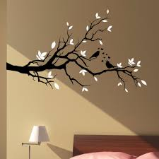 l50 big size large tree branch love birds floral hearts wall art stickers home decal diy 2 color removable vinyl mural stickers in wall stickers from home  on wall art trees large with l50 big size large tree branch love birds floral hearts wall art