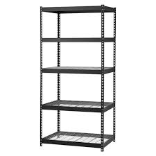 edsal mrop3618w5b steel storage rack 5 adjule shelves 5000 lb capacity