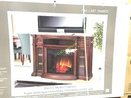 chimney free electric fireplace costco wall
