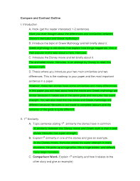 Comparison And Contrast Essay Template Apa Essaysschoolessaygoodpw