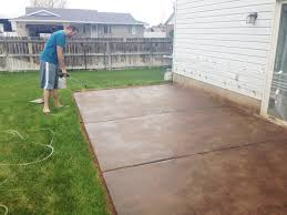 image of stained concrete patio design cleaner
