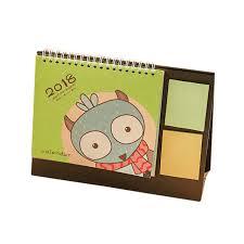 new quality 2018 cute cartoon animal desk desktop calendar flip stand table office planner 13 5x17cm
