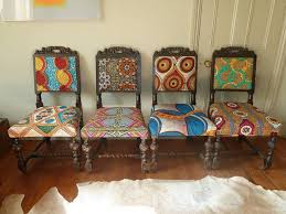 african chair frumpy chairs get a tribal fabric makeover modhomeec