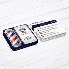Barber Business Cards Design Barbershop Business Cards Barber Pole Design Square Die Cut Cards
