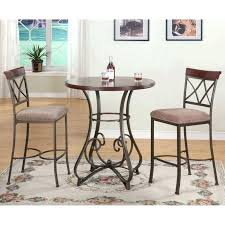 faux marble pub table and chairs set top bistro bar tables seat small black inch round