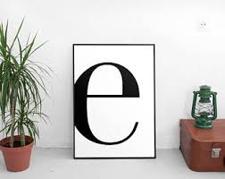 letter e e print e poster letters art letters typography letter wall art scandinavian letter affiche scandinave black letter e on wall art letters with letter wall art etsy