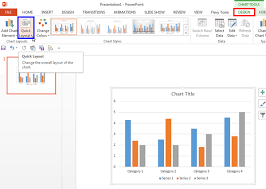 Quick Layouts For Charts In Powerpoint 2013 For Windows
