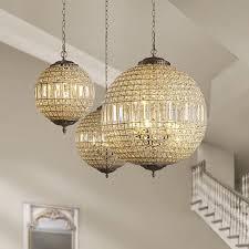 globe modern led k9 crystal ceiling
