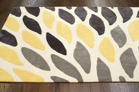 modern yellow rug new contemporary area carpet hand tufted polyester