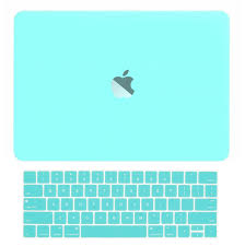 ... Rubberized Matte Hard Case + Matching Color Keyboard Cover for MacBook  Pro 15-inch A1707 with Touch Bar ( Release Oct 2016 ) - Hot Blue/Turquoise