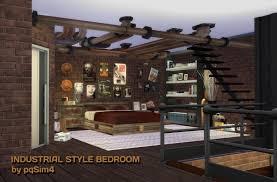 industrial style bedroom furniture. industrial style bedroom at pqsims4 furniture