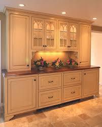 kitchen furniture hutch. Groton MA Custom Kitchen Furniture Style Hutch With Glazed Finish And Integrated Appliances U