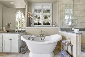 Carla Royder Designs 75 Beautiful Bathroom With Recessed Panel Cabinets And Beige
