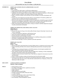 Download Mortgage Analyst Resume Sample as Image file