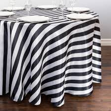modern black and white striped tablecloth for round table