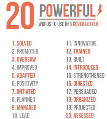 cover letter power words