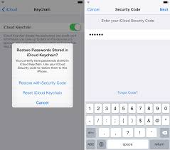 Icloud Security Code How To Set Up Icloud Keychain