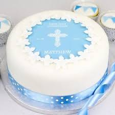 Personalised Boys Baptism Cake Kit Christening Decoration Cake