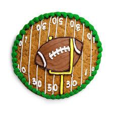 Football Cookie Cake Designs Football Custom Cookie Cake Cookie Cake Birthday Cookie