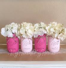 Decorating Mason Jars For Baby Shower Pink Baby Shower Mason Jars Pink Baby Shower Decorations Rustic 85