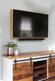 Television Frame Design How To Build A Tv Frame Framed Tv Tv Unit Furniture