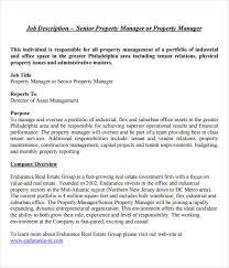 property manager job description template real estate property manager job description