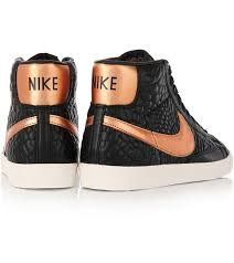 nike blazer croc effect leather high top trainers