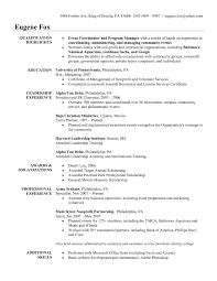Event Management Cv Examples Resume Cover Letter Template