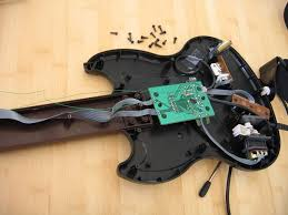 guitar hero led mod 10 steps pictures open it up