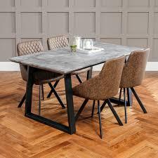 denver colorado industrial furniture modern king. Denver Industrial Concrete Effect Dining Table - 4 Jax Mocha Chairs The Furniture Market Colorado Modern King