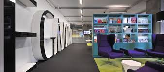 funky office design. Funky Office Design With Large Letters And Purple Chairs