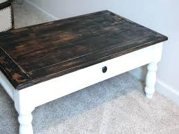 rustic coffee table and end tables distressed wood white side round western