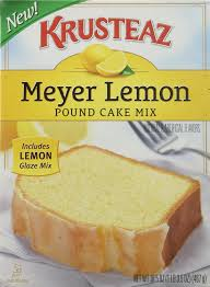 Krusteaz Meyer Lemon Pound Cake Mix 165oz Box Pack Of 2 You