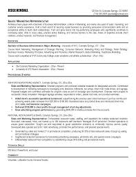Marketing Representative Resume Example Templatesample Wineales