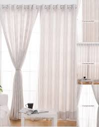 White and Gray Office Window Curtains with Striped Lines