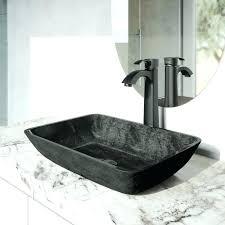 awesome black bathroom sink faucets matte black faucet rectangular gray onyx glass vessel bathroom sink set