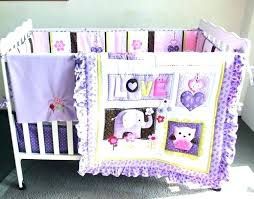 lambs ivyr erfly lane 5 piece crib bedding set purple 7 pieces baby embroidery elephant erfl