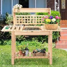 costway garden potting bench