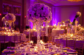 purple wedding decor photo credit kristen spencer for donna kims